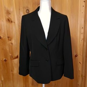 Loft black career blazer size 14P